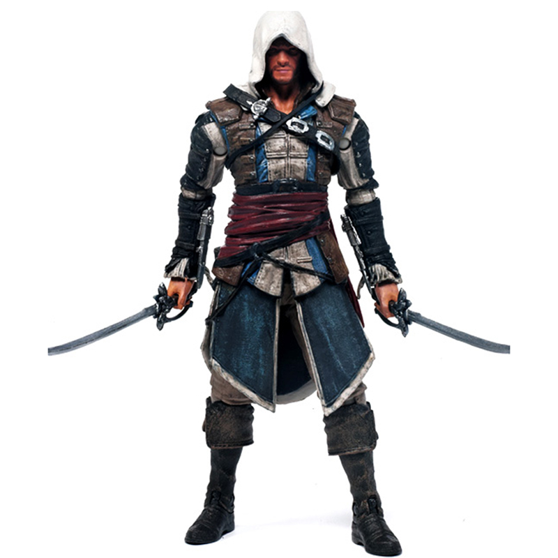 C&F Games Assassins Creed Action Toy Figures Altair Ibn La Ahad Ezio Auditore Connor Garage kit Stock Action Figures Toys Doll a toy a dream new hot 28cm assassins creed altair ibn la ahad edward action figure toys doll collection christmas gift with box
