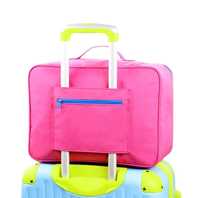 2017 de Gran Capacidad de Bolsa de Lona Bolsa de Viaje Organizador Del Bolso Del Recorrido Del Equipaje de Mano de Embalaje Cubos Señoras Bolsa de Viaje Organizadores
