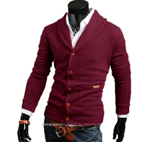 Special Offer Male Sweater Cardigan Men 2017 Brand Casual Slim Sweaters Men Thin Double Pocket Decoration
