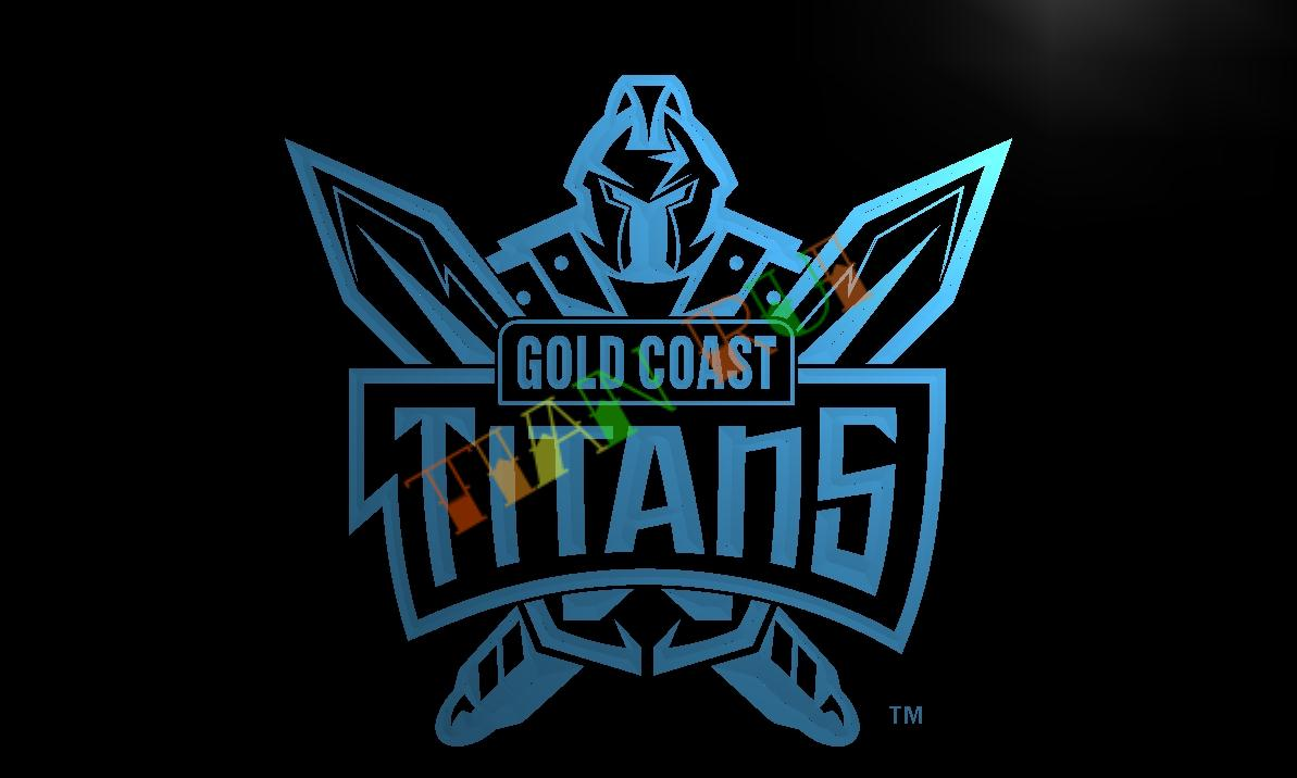 Ld376 Gold Coast Titans Led Neon Light Sign Home Decor Crafts In Plaques Signs From Home