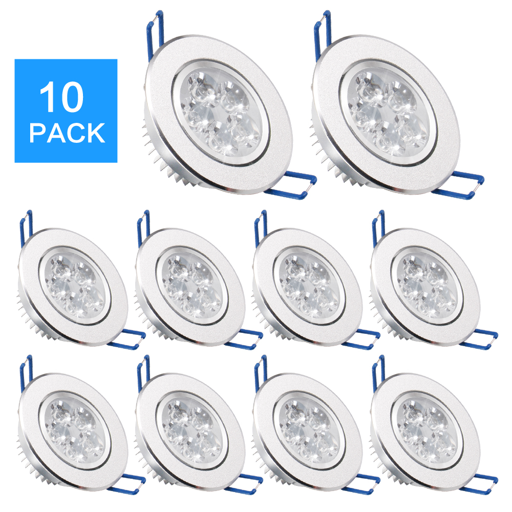 10 Pack/lots EPacket 7-25 Day Arrive LED Spot LED Downlight Dimmable Bright Recessed Decoration Ceiling Lamp 110V 220V AC85-265V