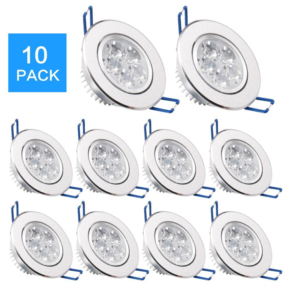 10 paczka/partii ePacket 7-25 dni przyjeżdża LED Spot LED typu downlight ściemniania jasne wpuszczone dekoracji lampa sufitowa 110V 220V AC85-265V