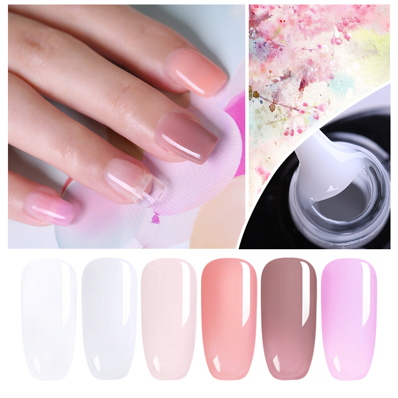 UR SUGAR 7.5ml Acrylic Poly Extension Gel Quick Building Gel Polish Clear Pink  Nail Tips Builder UV