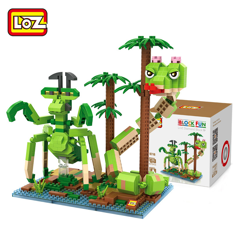 LOZ Kung Fu Panda Mantis and Viper Building Blocks Bricks Action Toy Figure brinquedos educativo juguetes menino Jouet enfant loz gas station diy building bricks blocks toy educational kids gift toy brinquedos juguetes menino