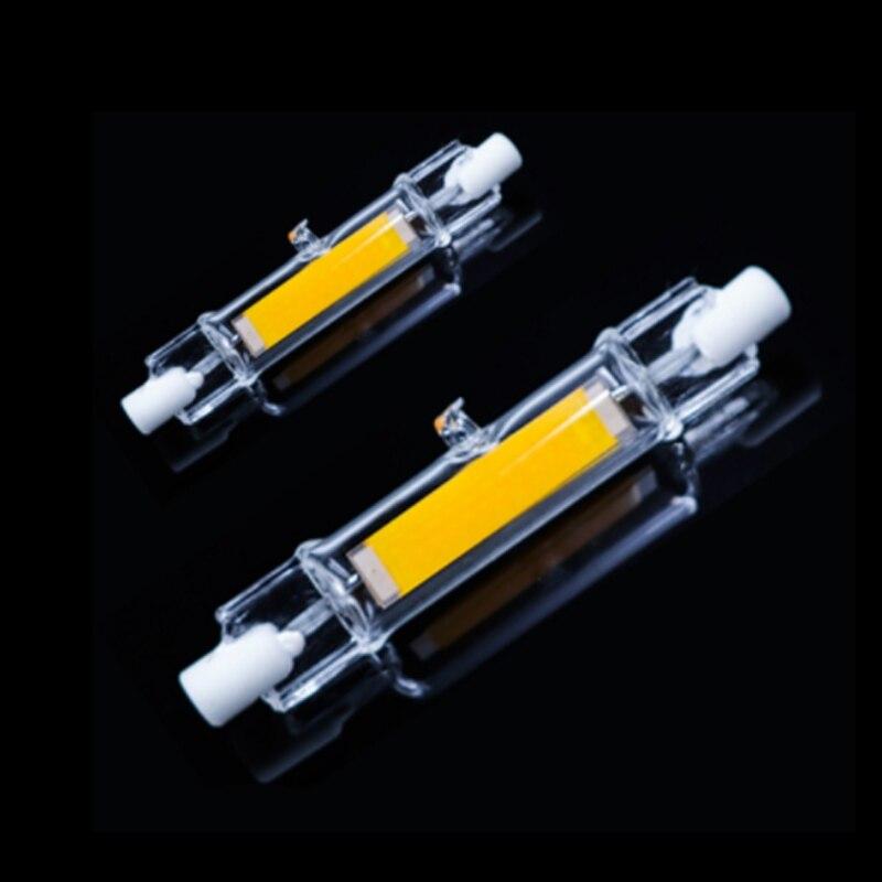 Ac220 78mm W 118mm La Ampoules 13mm Diamètre Tube 15 Remplacent R7s 30 Lampe 240v Verre Led Cob Dernières De Halogène Les rxhQsCdt