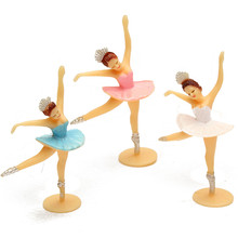 12 Pcs set Mini Dancing Girl Favor Baby Shower Gift Kids Birthday Decor Model font b