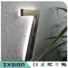 """"""" высокая задняя подсветка из нержавеющей стали светодиодный Домашний номер, 12 см высокий 3D светодиодный номер дверного знака, светодиодный светильник"""