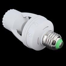 E27 розетка переключатель База Светодиодный светильник лампа держатель переменного тока 110-220 в 360 градусов PIR индукционный датчик движения ИК инфракрасный человек