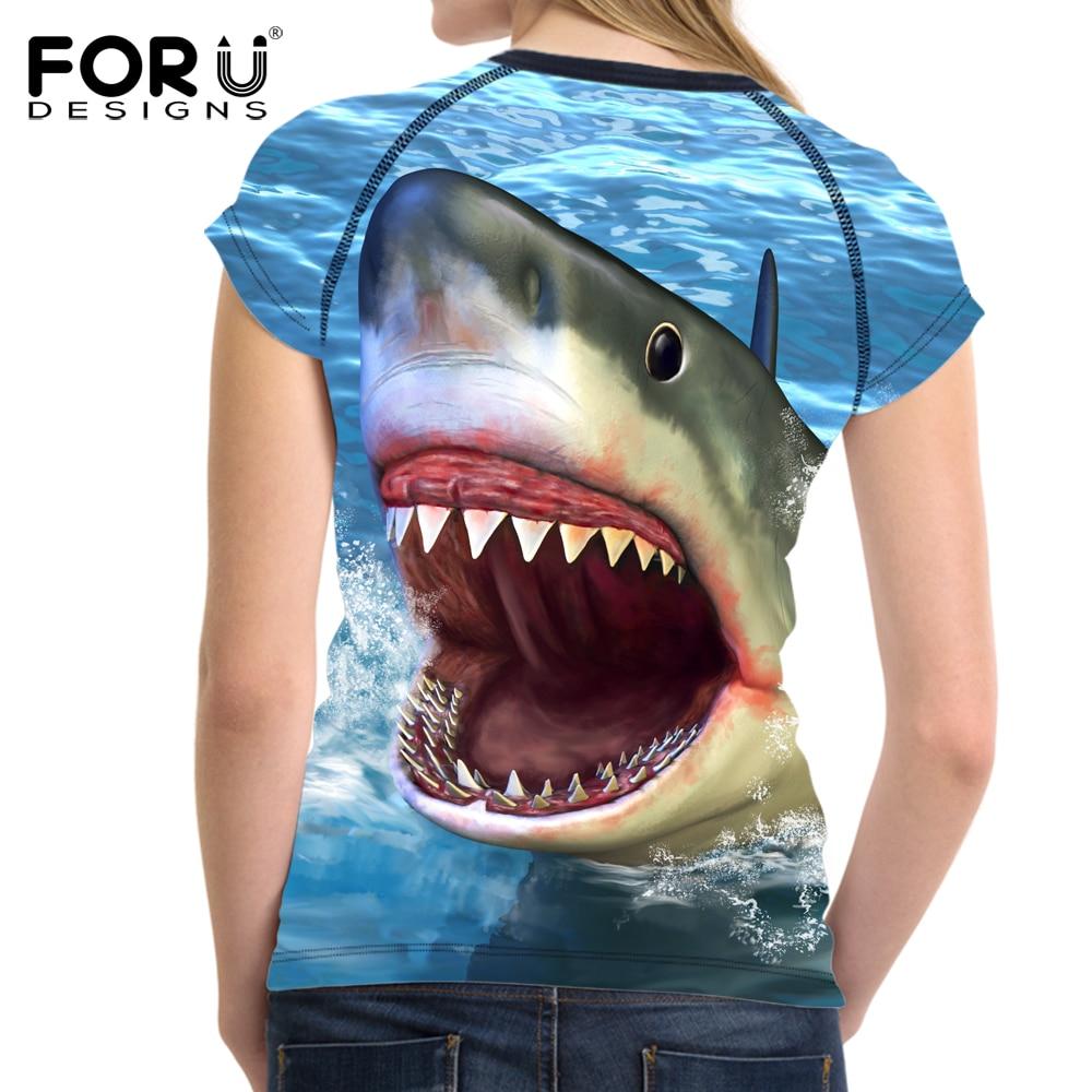 FORUDESIGNS Ամառային կանանց շապիկ Sea World - Կանացի հագուստ - Լուսանկար 5