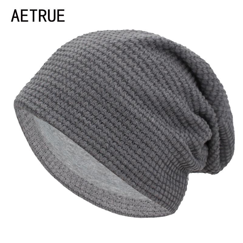 AETRUE Winter Beanie Knitted Hat Women Winter Hats For Men Fashion Skullies Beanies Bonnet Solid Warm Mask Soft Knit Caps Hats