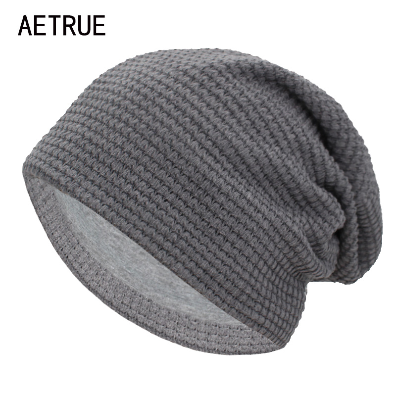 AETRUE Winter   Beanie   Knitted Hat Women Winter Hats For Men Fashion   Skullies     Beanies   Bonnet Solid Warm Mask Soft Knit Caps Hats