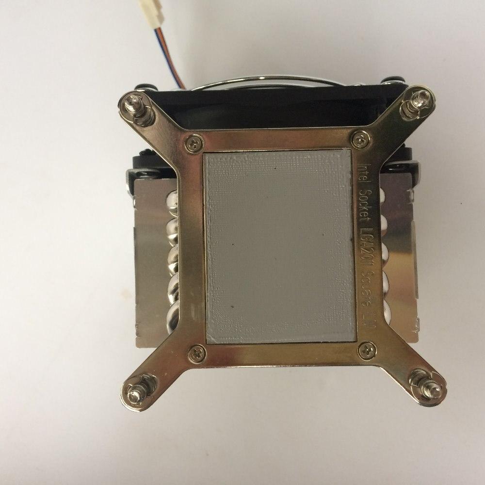 Купить с кэшбэком YOLOWIN CPU Cooler 165W 90mm  CPU Fan Aluminum Heatsink for intel  LGA1150/1151/1155/1156/755/1366