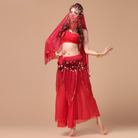 New Arrival Women Belly Dancing Costume Indian Dance Dress Girl Bellydance Costume 5 Pcs Dancer Practice Wear 18