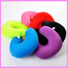 New Inflatable Travel Pillow Air Cushion Neck Rest U Shape Neck Support Pillow Baby Car Seat Stroller Body Head Support Cushion