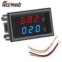 Mini digital voltímetro amperímetro dc 100 v 10a display led volt ampere medidor de tensão amperemeter indicador tester com cabo