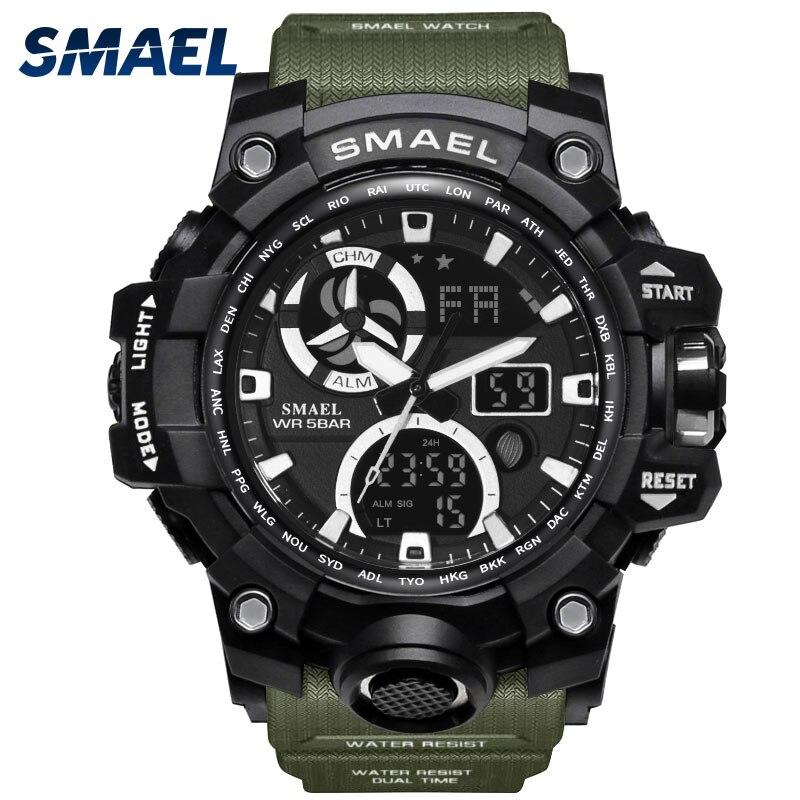 Backlight Digital de Relogio masculino Homens Relógio Militar do exército Relógios de Marca LEVOU Relógios De Pulso 1545C Militar Homens Relógio À Prova D' Água