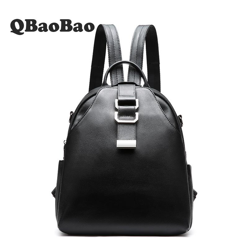 high Quality Leather Teen Backpack School Bags Women Back Pack Bag Sac A Dos Femme Rugzak Zainetto Nero Donna Luxury Mochilas backpack mochila feminina mochilas school bags women bag split leather backpacks travel mochilas mujer sac a dos back pack 2017