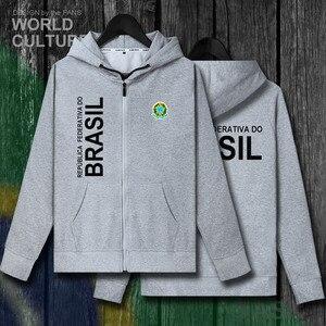 Image 5 - บราซิล Brasil BRA บราซิล BR ซิป fleeces hoodies ฤดูหนาวชายเสื้อแจ็คเก็ตและ nation เสื้อผ้าประเทศเสื้อ