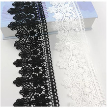 9cm wide lace accessories thick black white water soluble embroidery clothes hem skirt decoration hollow fabric