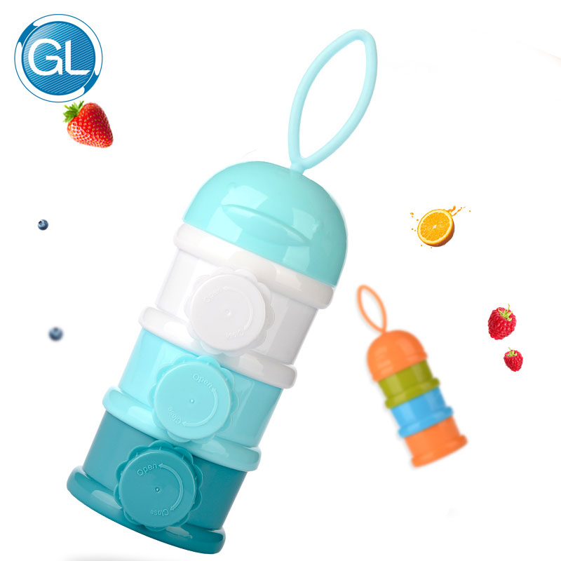 GL Cute Milk Formula Powder Box Portable Baby Food Storage Container PP Food-grade Safe Material Baby Formula Dispenser Bottle