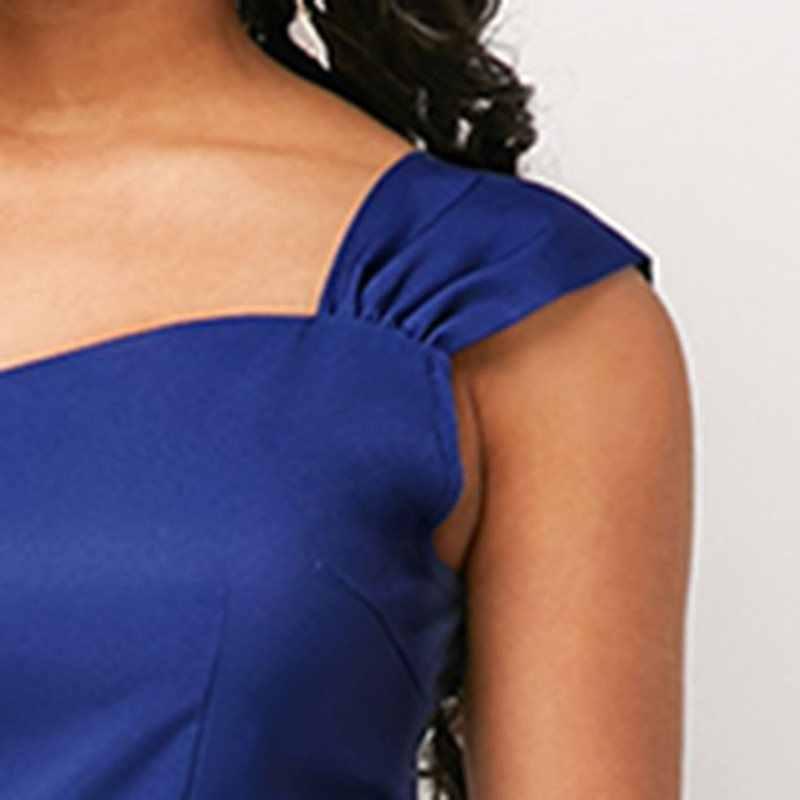 Винтажное элегантное Африканское офисное женское миди-платье больших размеров вечерние платья в стиле ретро с принтом Aline сексуальное летнее платье без рукавов 2019