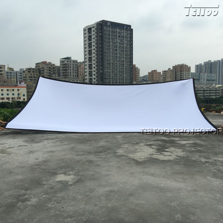 Matte White Wall Mounted Canvas Fabric Portable Projection Screens Curtains Film
