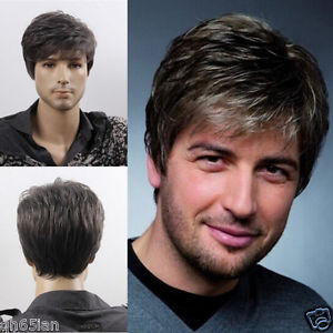 Men's Men Medium Long Youth light blonde Casual Modern Dark Brown BLACK Gary male cosplay peruca hair hair wig blonde cosplay wig wholesale price cut hairstyle long striaght wig cosplay hair blonde cosplay wig