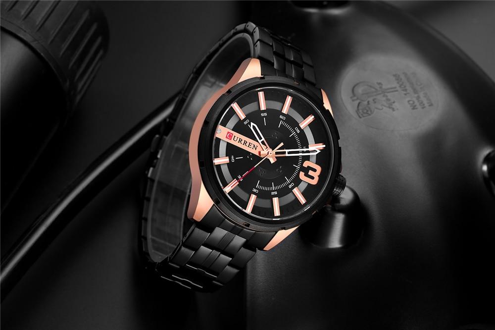 Luxo Da Marca CURREN Relógio de Aço