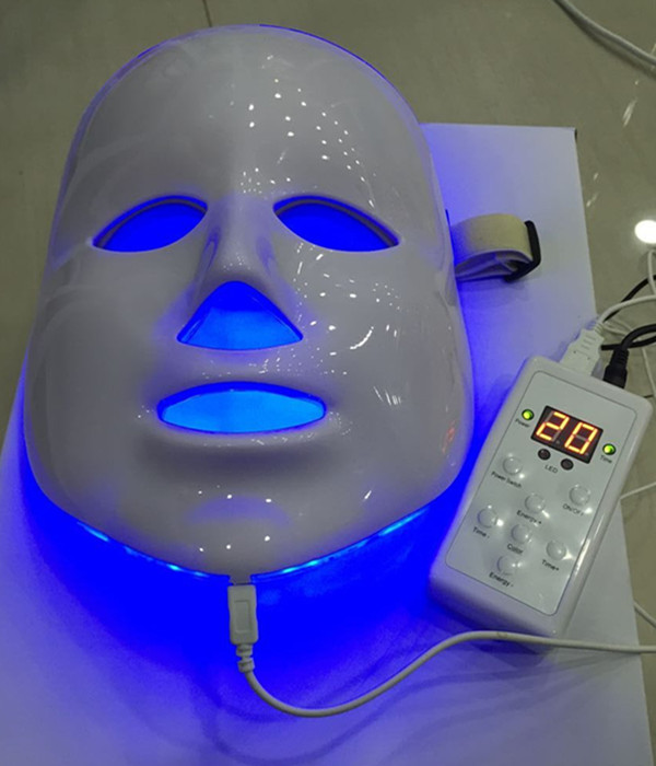 7 colors photon PDT led skin care facial mask blue green red light therapy beauty devices with wholesale price beauty accessory rechargeable pdt heating led photon bio light therapy skin care facial rejuvenation firming face beauty massager machine