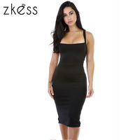 Zkess Black Mesh Accent Strapless Dress 22326
