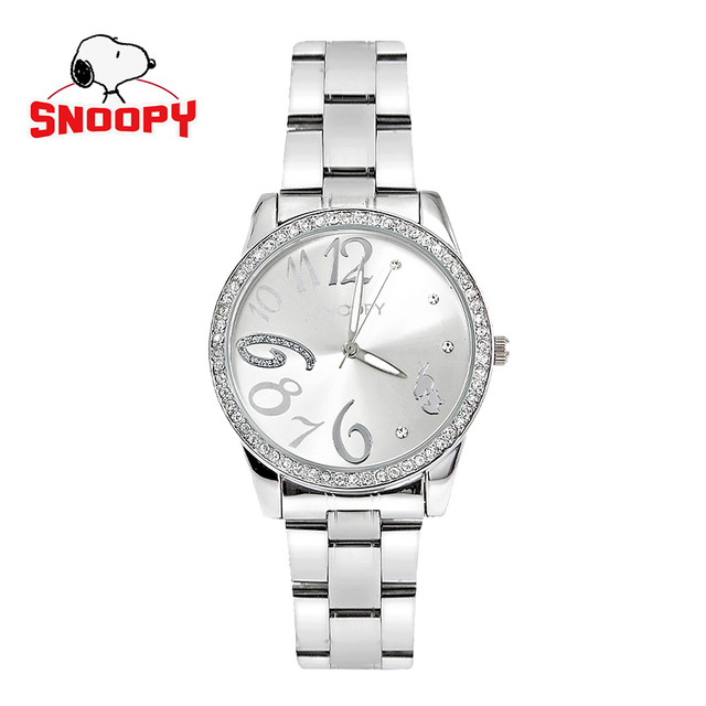 40a17b2f4f Snoopy watch fashion casual women watches stainless steel ladies watches  kids watch Water Resistant Quartz Wristwatches
