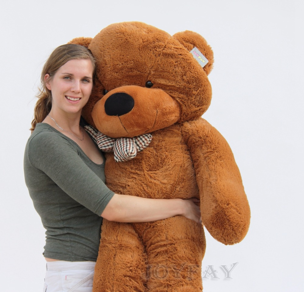 Joyfay Giant Teddy Bear 63 160 cm Dark Brown Bear 1.6m Big Stuffed Plush Animal Toy Birthday Valentine Anniversary Gift archie giant comics 75th anniversary book