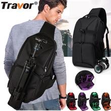 Travor Multi функция видео фото цифровой Камера плечи мягкий рюкзак сумка чехол водостойкий противоударный Малый Сумки