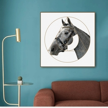 Minimalism Horse Print Canvas Calligraphy Painting Wall art Picture for Living Room Bedroom Art Poster Decoration Morden