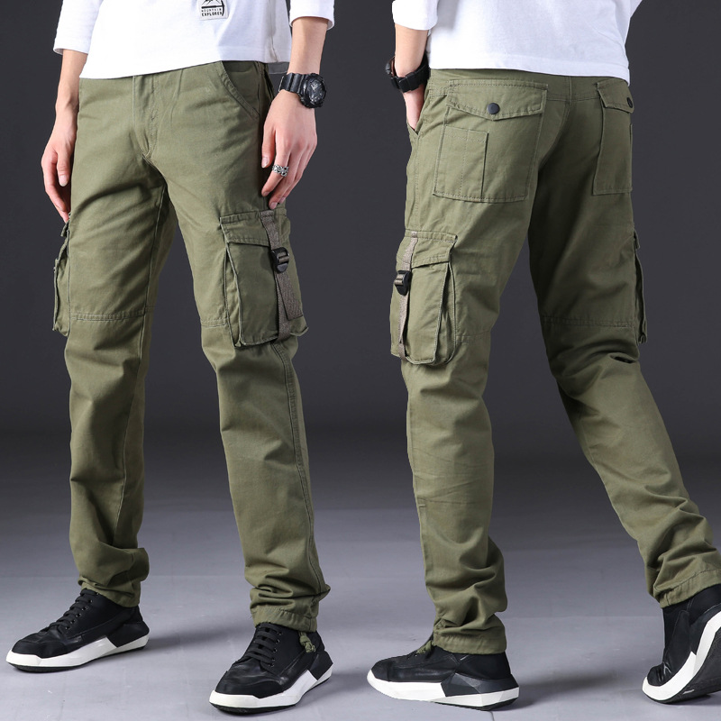 Casual Pants Overalls Military Loose Sports Multi-Pocket Camouflage Men's Straight Fashion