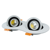 14W AC85 265V COB LED Ceiling Downlight Recessed LED Wall Lamp Spot Light 360 Degree Rotation