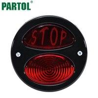 Partol Vermelho Moto Luz Da Cauda Da Motocicleta LED Brake Correndo Luz License Plate Luz Integrada Para Motos Rear Fender