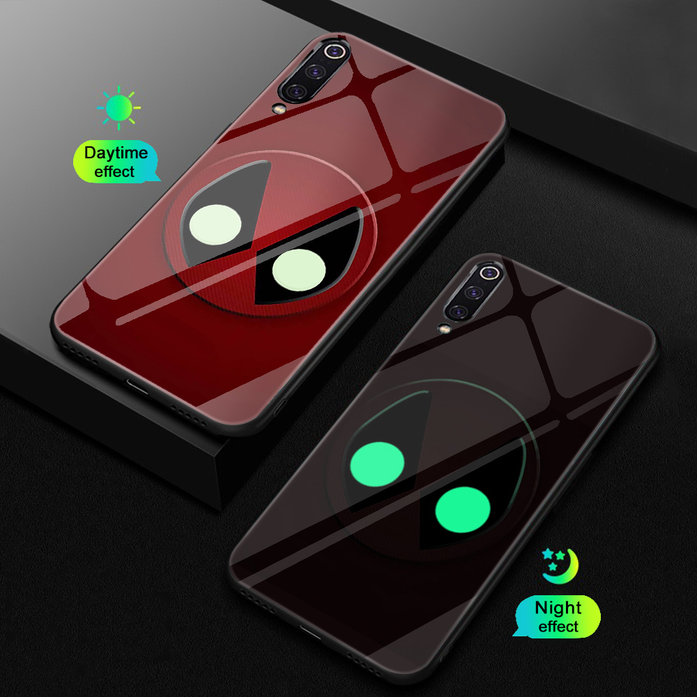 ciciber For Xiaomi MI 9 8 A2 6X MIX 2 2S PocoPhone F1 Glass Phone Cases for Redmi Note 7 6 5 Pro Plus Cover Capa Marvel Deadpool-in Fitted Cases from Cellphones & Telecommunications