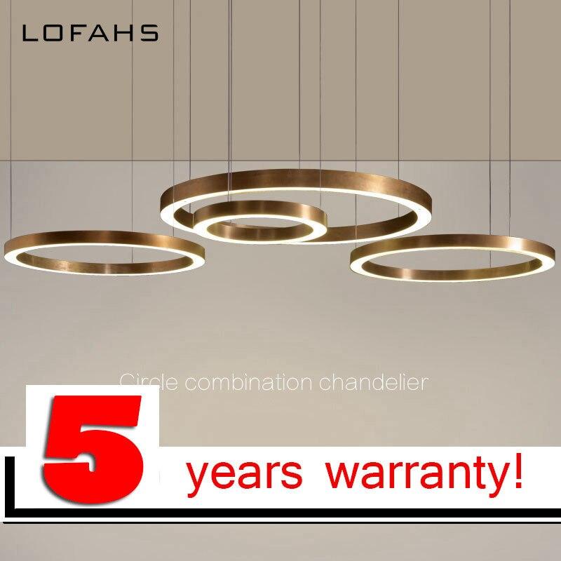 LOFAHS Современная светодио дный светодиодная люстра роскошный большой комбинированный круг для гостиной светодио дный лампа Подвесные свет...
