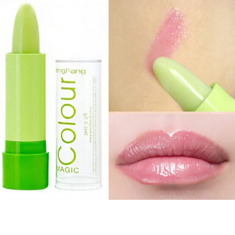 Professional Lipstick Magic Colour Temperature Change Color Lip Balm Moisture Anti- Aging Protection Lip Balm Makeup Free Ship
