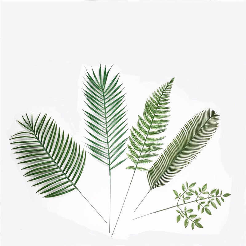 1 Pcs Monstera Palm Tree Leaves Home Decoration Plastic Leaf For Home Garden Accessories Photography Decorative Leaves Aliexpress