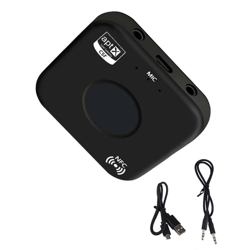 OOTTDY CSRA64215 Wireless Audio Receiver Adapter B7 PLUS Bluetooth 4,2 Empfänger APT-X NFC CVC6.0 Eingebaute Mikrofon AUX Out