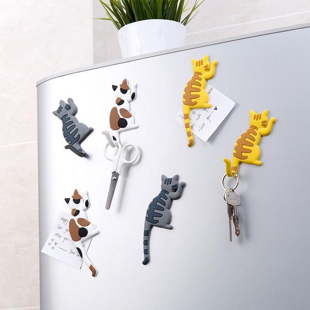 vanzlfe magnetic cartoon cat home the magnets on the babys fridge Magnet decorative souvenir magnets for refrigerators for hook 2