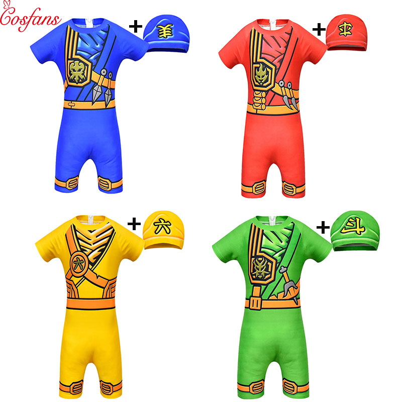 Ninjago Cosplay Costumes Boys Clothes Sets Superhero Cosplay Boy Ninja Costume Girl Halloween Party Dress Up Streetwear Kids new