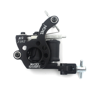 Wholesale Professional Tattoo Machine 8 Wraps Coil 1pc Stainless Steel Tip Classic Mikey Gun Free Shipping