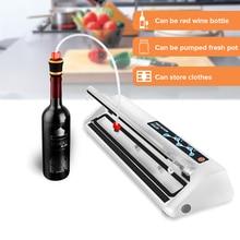 ماكينة تعبئة السدادات فراغ LAIMENG 110 فولت 220 فولت Sous فيديو فراغ جهاز غلق أكياس الطعام الغذاء التوقف حزم ل فراغ باكر أكياس مكنسة S140