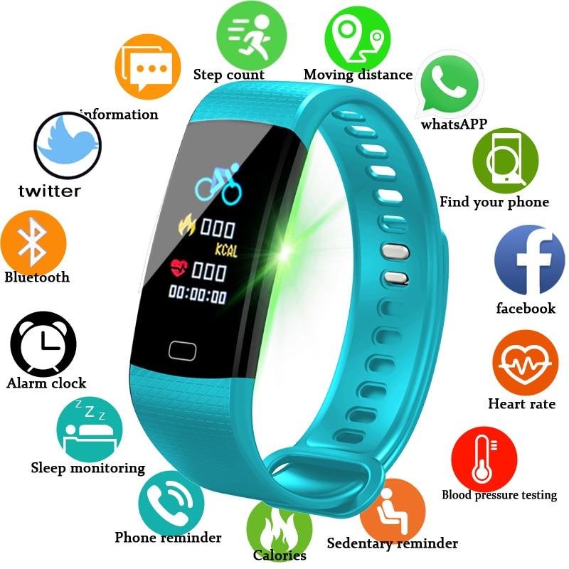 Men Women Smart Wrist Band Bluetooth Heart Rate Blood Pressure Pedometer Clock LED Sport Bracelet Watch Fitness Activity Tracker цена