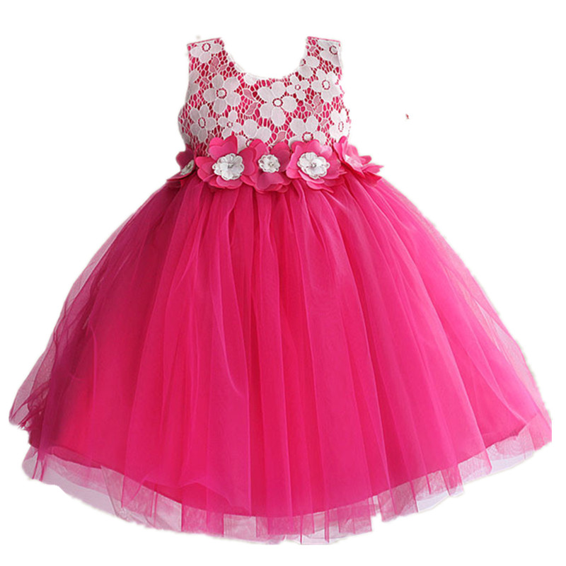 Подробнее о Baby Girl Wear Dress New 2017 Rose Flower Belt Cotton Vest Princess Party Elegant Dresses for Kids Girls Wedding Clothes GDR245 2017 new princess party wear toddler girls dresses kids clothes elegant child flower girl lace ivory kids dress for weddings