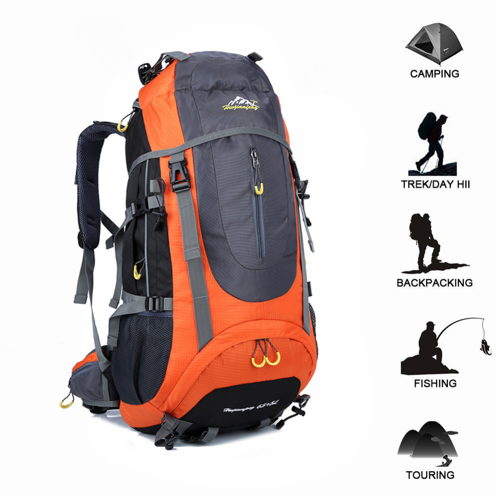 70L Tactical Backpack Waterproof Travel Hiking Backpack Outdoor Camping Rucksack Trekking Climbing Sports Bag Equipment For Men