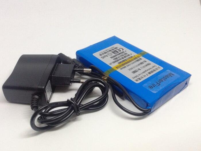 MasterFire 10 set/lote 12V 6800mAh Super Recarregável Li-ion Battery DC Portátil Baterias Pack Para Câmera de CCTV Segurança N-12680